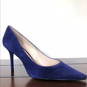 NWT Guess Rolene 2 Blue Suede Pump 9.5